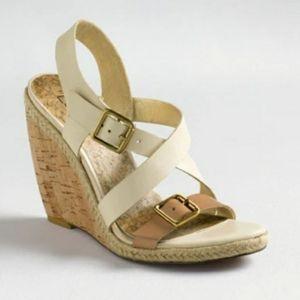 #225 LOFT Hannie 11 Cork Wedges Sandals Heels